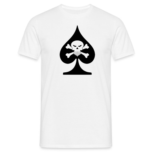 Skull Spade Poker T-Shirt - Men's T-Shirt