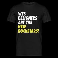 T-shirts ~ Mannen T-shirt ~ Web Designers Are The New Rockstars!