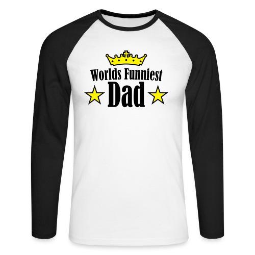 morsomfar - Langermet baseball-skjorte for menn