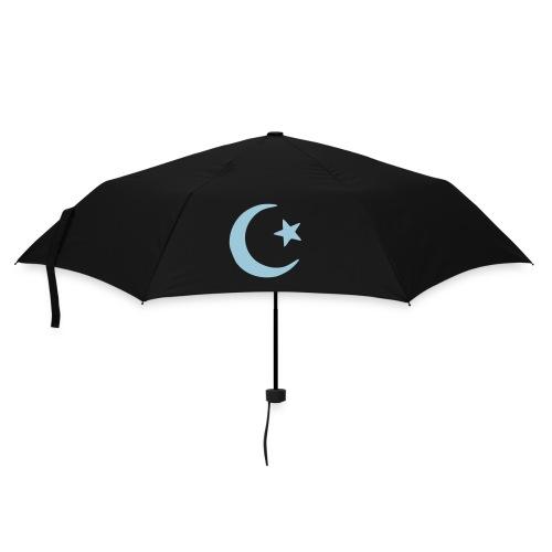 Umbrella (small) - black umbrella,Islamic sign,crescent moon and star