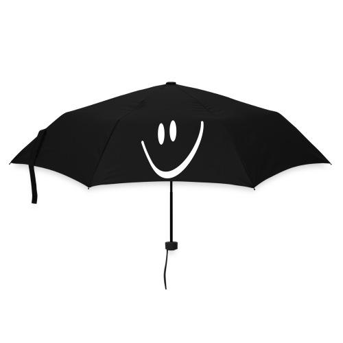 Umbrella (small) - black umbrella,smiley face,doodle