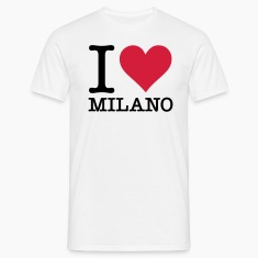 White I Love Milano (2c, NEU) Men's T-Shirts