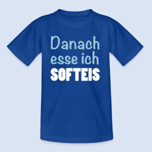 Danach esse ich Softeis - Fast Food Porn #kids - Kinder T-Shirt
