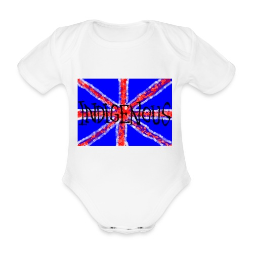 brit n proud - Organic Short-sleeved Baby Bodysuit