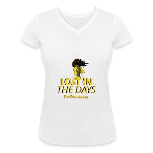 T-SHIRT COWBOY WOMAN LOST IN THE DAYS - T-shirt bio col en V Stanley & Stella Femme