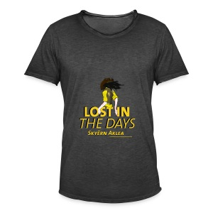 T-SHIRT COWBOY MAN LOST IN THE DAYS - T-shirt vintage Homme
