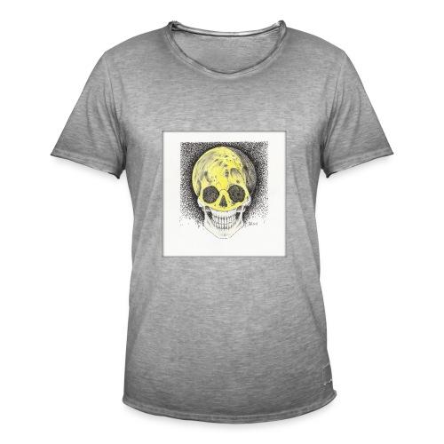 happy skull moon - Männer Vintage T-Shirt