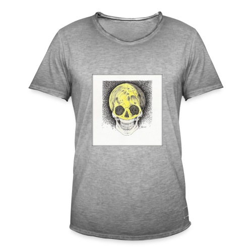happy skull moon - Männer Vintage T-Shirt