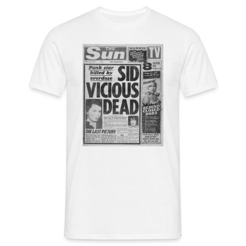 Sid Vicious Dead - Men's T-Shirt