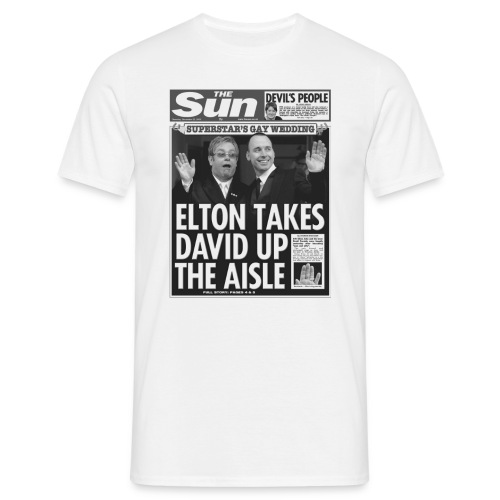 Elton Takes David Up The Aisle - Men's T-Shirt