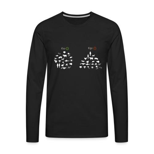 ECO VS EGO - Maglietta Premium a manica lunga da uomo