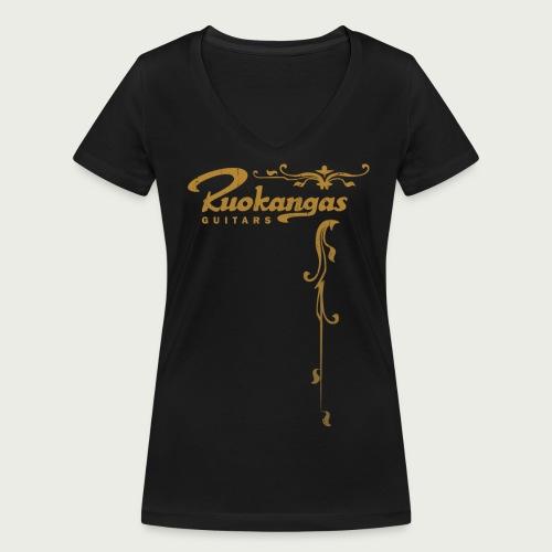 Ruokangas V-Neck T-shirt (Women's) - Women's Organic V-Neck T-Shirt by Stanley & Stella