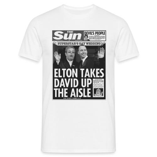 Elton Takes David Up The Aisle - Men's T-Shirt