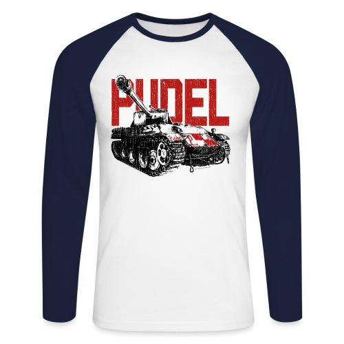 PUDEL - Men's Baseball Longsleeve Shirt - Men's Long Sleeve Baseball T-Shirt