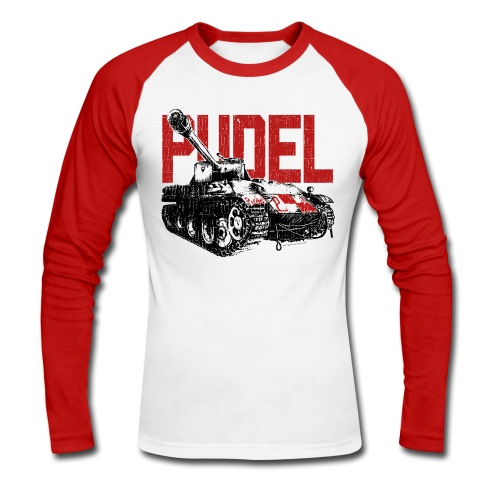 PUDEL - Men's Baseball Longsleeve Shirt - Men's Long Sleeve Baseball T-Shirt