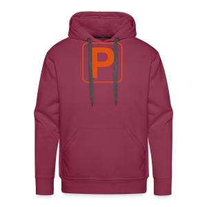 100012Q - oranje print - Mannen Premium hoodie