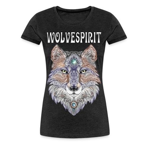 WolveSpirit - Wolf Head - Woman Shirt - Frauen Premium T-Shirt