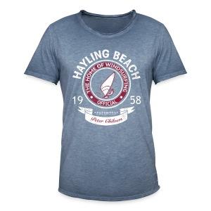 Hayling Beach Mens Retro Tee - Men's Vintage T-Shirt