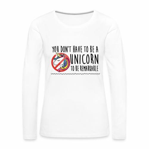 Maglietta Premium a manica lunga da donna