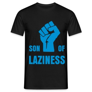 T-shirt Son Of Laziness noir/bleu - T-shirt Homme