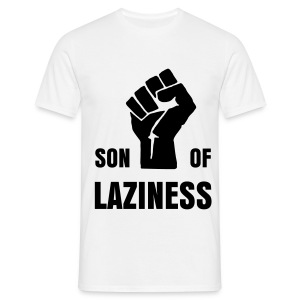 T-shirt Son Of Laziness blanc/noir - T-shirt Homme