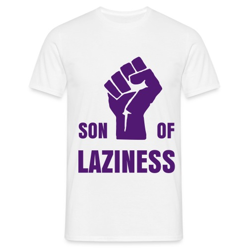 T-shirt Son Of Laziness blanc/violet - T-shirt Homme