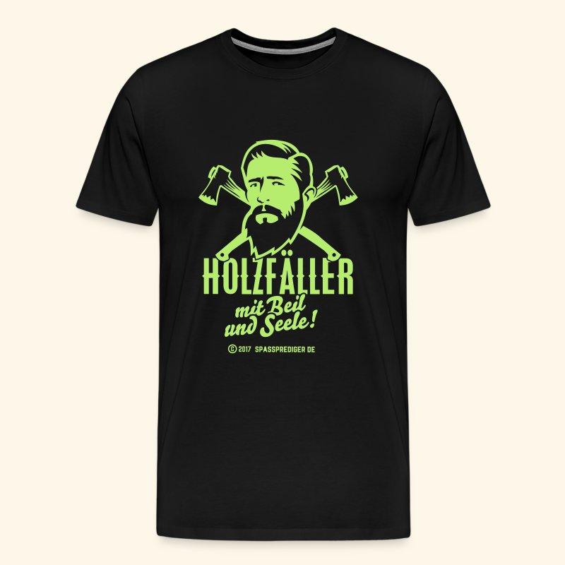 Holzfäller mit Beil und Seele - Männer Premium T-Shirt