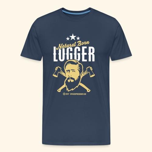 Natural Born Logger - Männer Premium T-Shirt