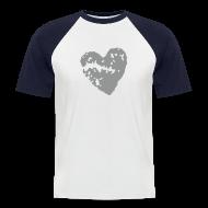 T-Shirts ~ Männer Baseball-T-Shirt ~ Herz SW