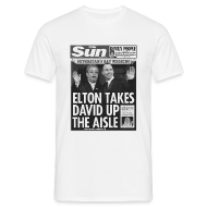 T-Shirts ~ Men's T-Shirt ~ Elton Takes David Up The Aisle