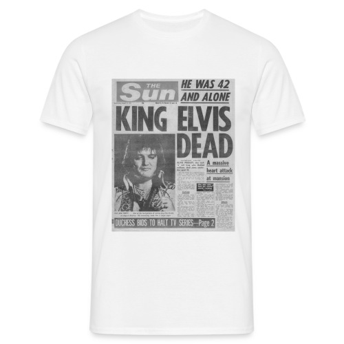 King Elvis Dead - Men's T-Shirt