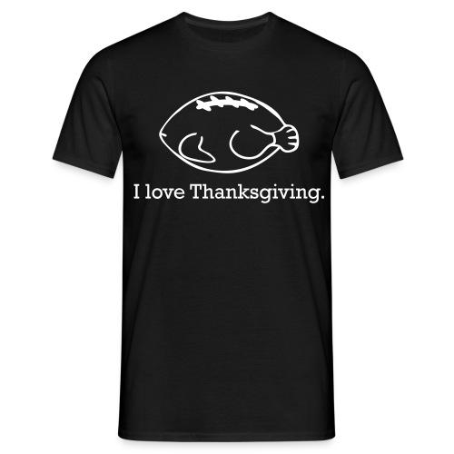 Black Thanksgiving Turkey Ball - Men's T-Shirt