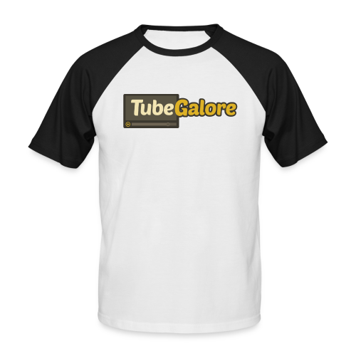 TubeGalore Men Baseballshirt Short Sleeves - Men's Baseball T-Shirt