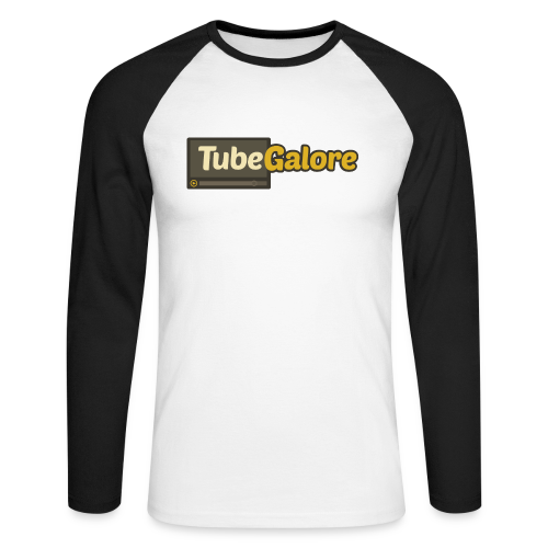 TubeGalore Men Baseballshirt Long Sleeves - Men's Long Sleeve Baseball T-Shirt