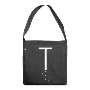 T Shaped, Recycling Tote Bag - Schultertasche aus Recycling-Material
