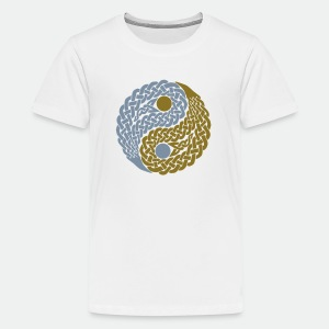 Teens' T-Shirt Celtic Yin Yang gold and silver - Teenage Premium T-Shirt