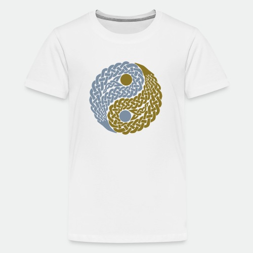 Teens' T-Shirt Celtic Yin Yang gold and silver - Teenage Premium T-Shirt