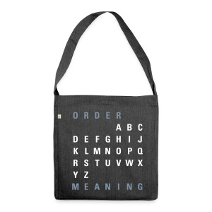 ABC Order / Meaning (EN), Recycling Tote Bag - Schultertasche aus Recycling-Material