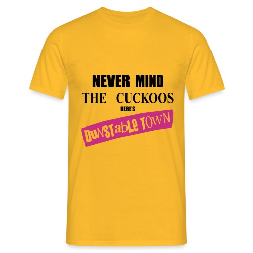 Never Mind Tee (Yellow/Black/Magenta) - Men's T-Shirt
