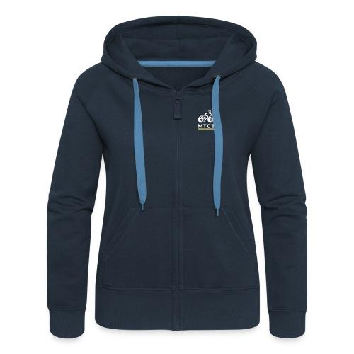 MTCT Fleece Zip Hoodie - Navy Women - Women's Premium Hooded Jacket