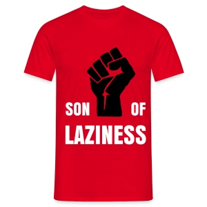 T-shirt Son Of Laziness rouge - T-shirt Homme