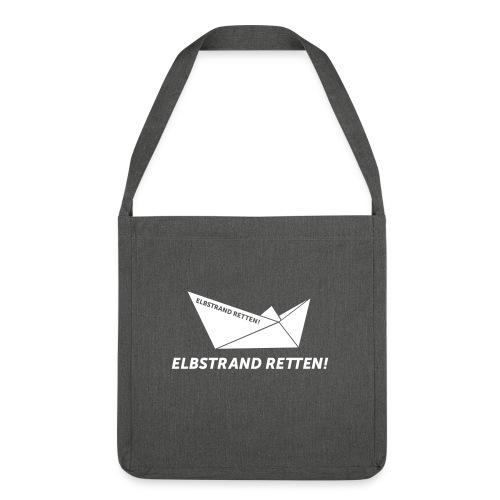 Supertasche / ELBSTRAND RETTEN!  - Schultertasche aus Recycling-Material