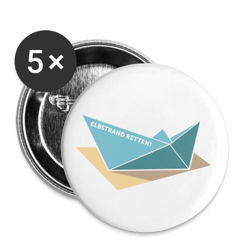 Button (5 Stk.) /  ELBSTRAND RETTEN!  - Buttons klein 25 mm