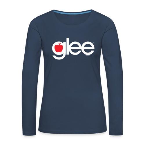 Glee Logo Schriftzug Apfel - Frauen Premium Langarmshirt