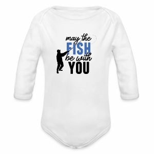 May the fish be with you | Baby Strampler langarm | BIO - Baby Bio-Langarm-Body