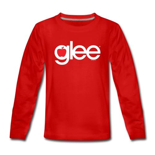 Glee Logo Schriftzug Apfel - Teenager Premium Langarmshirt