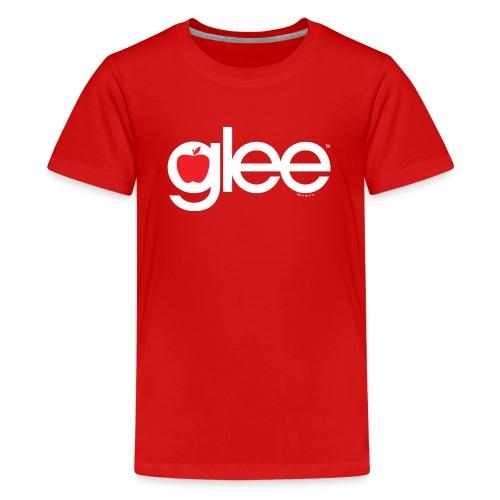 Glee Logo Schriftzug Apfel - Teenager Premium T-Shirt