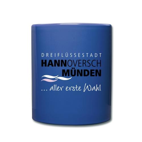 Tasse Hann. Münden mit Logo blau - Tasse einfarbig
