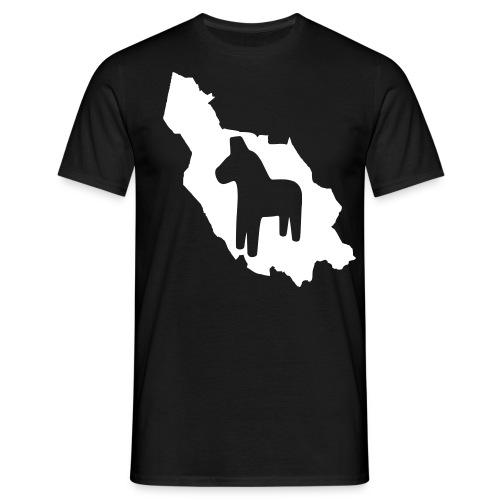 Dalarna med häst - Men's T-Shirt