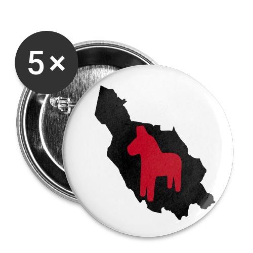 Dalarna med häst - Buttons large 2.2''/56 mm(5-pack)